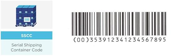 GS1 128 SSCC barcode label