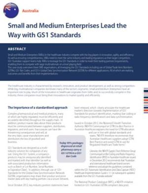 Australian SME Case Study from the GS1 Healthcare Reference Book 2013