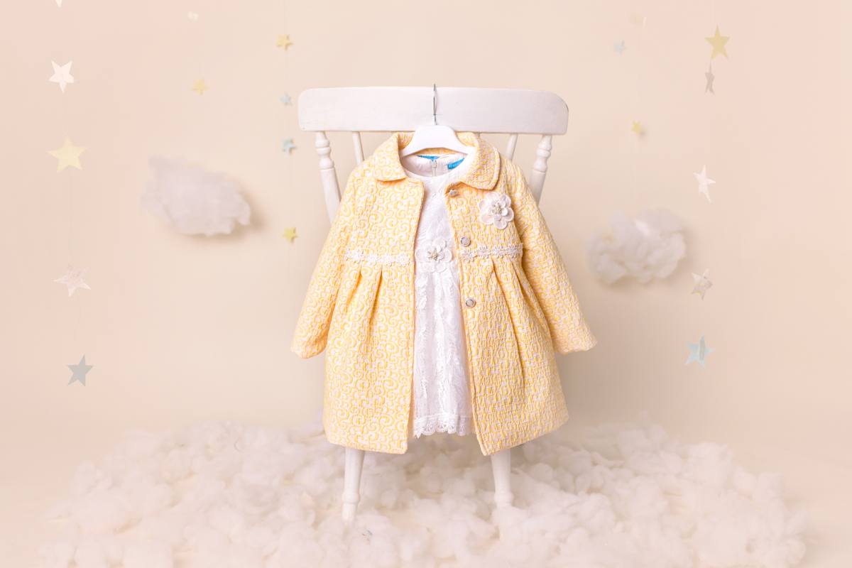 Ky Ky Kids Dress with Yellow Coat