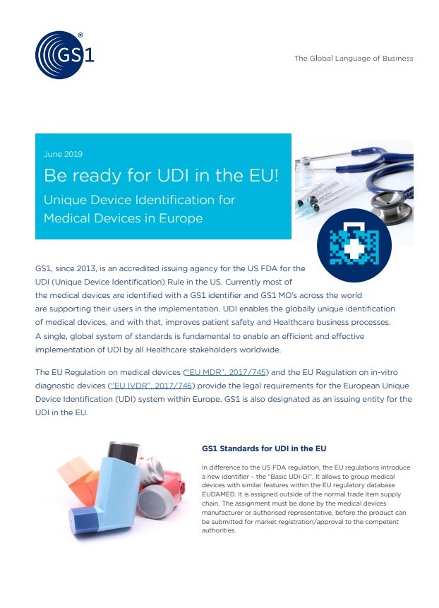 Be ready for UDI in the EU